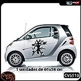 Custom Vinyl Vinilo para Bollos Coyote Dise/ño registrado Blanco, L - 18x18cm