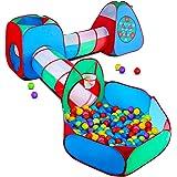STLOVe Lektält för barn, anpassat barn lek tunnel tält leksakstält pop up tältfäste med förvaringsväska (ingår inte boll)|~Dj