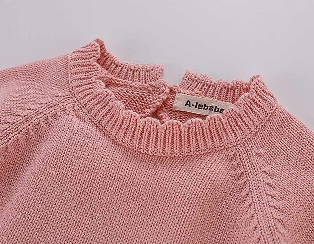 Mitlfuny Unisex Suéter Mameluco Ropa de Punto Invierno Otoño Recien Nacido Bola de Pelo Correa Princesa Camisa Tejer… 2