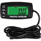 SEARON Backlit Digital Tach Hour Meter Tachometer for Small Engine Boat Generator Lawn Mower Motorcycle Motocross ATV…