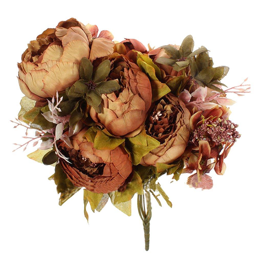 niceeshop(TM) Ramos de Flores de las Peonías de Artificiales de Seda de Estilo Europeo para la Decoración de Boda Hogar…