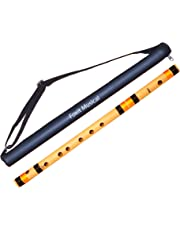Foxit Flutes B Natural Base Bamboo Flute Size 20 inch With Carry Bag