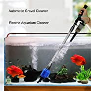Aquarium Gravel Cleaner - Upgraded Electric Automatic Vacuum Water Changer Flexible Fish Tank Sand Algae Cleaner Filter Chan