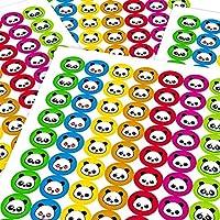 Panda Smile Face Emoji Reward Sticker Labels, 70 Labels @ 2.5cm, Teachers Classrooms Parents Schools Primary Children Marking Doctors Nurses Opticians Pupils Merit Motivation Praise