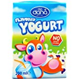 DANA Yogurt Drink Long Life Plain Flavour | Fresh Taste, Made with Skimmed Milk | Pack of 24 (200ml)