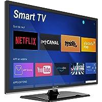 "Smart TV 19"" 47 cm Android - 12/24V - DVD - Camping Car Camion Fourgon Poids Lourd Caravane - MobileTV Silverline…"