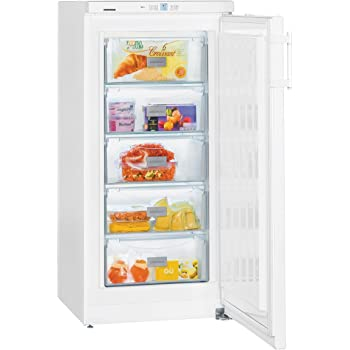 Liebherr GP2033 Freestanding SmartFrost 156 Litre Comfort Freezer White With Automatic SuperFrost Function And VarioSpace Reversible Door 60cm Width