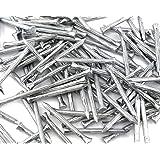 100 stalen nagels, gegroefd, gehard, betonnagels, 3,4 x 60 cm