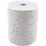 PandaHall 20M (21 Yards) 5mm Twisted Cord Corda Nylon Twisted Cord Trim Filo String per Craft Fai da Te Fare Mandorle sbollen