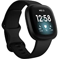 Fitbit Versa 3 Health & Fitness Smartwatch with GPS, 24/7 Heart Rate, Voice Assistant & up to 6+ Days Battery, Black…