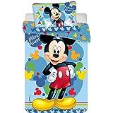 Disney Mickey Mouse Parure de lit pour bébé 135 x 100cm