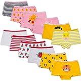 Yintry Intimi per Bambini di Serie Bambini Mutandine Culotte in Cotone per Bambine Piccole (Confezione da 12)