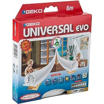 Geko Paraspifferi adesivo termoplastico, per porte e finestre, colore: bianco
