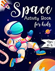 Space Activity Book for Kids Ages 4-8: Space Mazes Game, Cut and Glue Game and Coloring Page