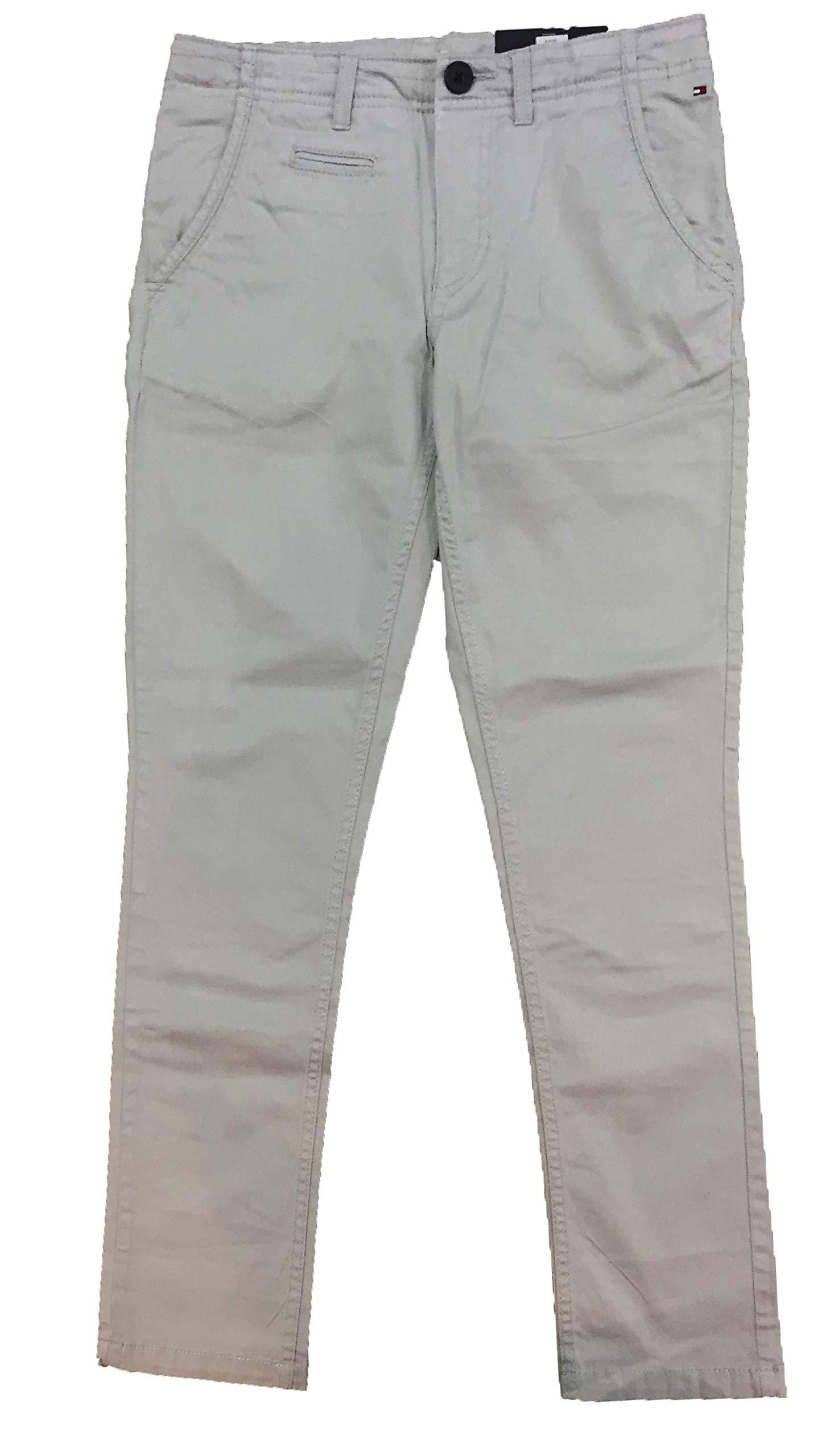 Tommy Hilfiger – Pantalon Largo Chino, niño, Color: Gris Ceniza, Talla:12