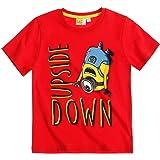 MINIONS - Camiseta de manga corta para niño de 6 a 12 años