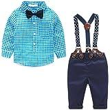 MissChild Camisa de Manga Larga + Pantalones Bebé niños 2 Piezas Ropa Conjunto para Fiesta Bodas Ropa Recién Nacidos