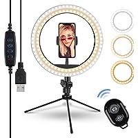 10.2 Zoll Selfie Ringleuchte mit Stativ - Rovtop LED Ringlicht für Handy,Tisch Ringlicht mit…