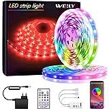 Bluetooth Striscia LED,LED Striscia 10M SMD 5050 RGB Strisce Luminose con Controller Sincronizza con la Musica Adatto per Cam