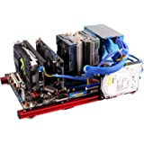 PC öppet fodral, DIY mini öppen ram aluminiumlegeringsram ATX moderkort PC datorväska, öppen ram design har bra värmeavlednin