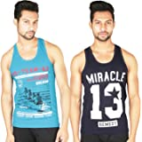 White Moon Men's Cotton Gym Vest for Gym,Casual,Athletic (Pack of 2)