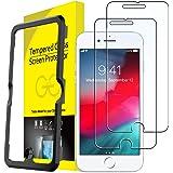 JETech Schermbeschermer Compatibel met iPhone 8 Plus, iPhone 7 Plus, iPhone 6s Plus en iPhone 6 Plus, Gehard Glas Screen Prot
