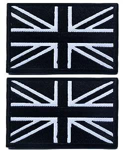 Tacvasen 2/pezzi motivo bandiera del Regno Unito toppa ricamata