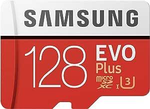Samsung EVO Plus 128GB microSDXC UHS-I U3 100MB/s Full HD & 4K UHD Memory Card with Adapter (MB-MC128HA)