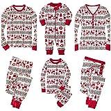 Pijamas de Navidad Navidad Conjunto Familiar Vacaciones Parejas a Juego Niños 2 Piezas Ropa de Abrigo Ropa de Dormir