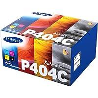 Samsung CLT-P404C (SU365A) Pack de 4 cartouches de toner noir/cyan/magenta/jaune, pour imprimantes SL-C430W, SL-C480W…
