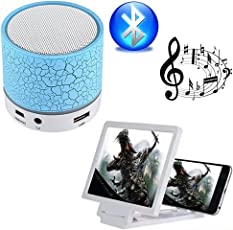 Captcha® M16 Mini Led Light Portable Wireless Speaker & Terible Base Boost Sound with 3D Screen Mobile Screen Enhancer for Honor 9i & Redmi Y2 Mobile