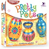 Toykraft : Pretty Pots | DIY Kids Painting Kit for Kids 7 Years | Gifts for Girls Boys | Kids Art and Craft Kit | Pot Making