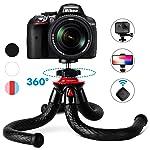 Fotopro Handy Stativ, Flexibel Smartphone Stativ, leicht Kamera Stativ mit Bluetooth Fernbedienung, Handy Halter...