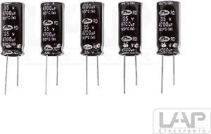 5 Stück Elko 4700µf 35v Kondensator Elkos Elektrolytkondensatoren 4700 Uf 35 V 105 Radial Elektronik
