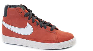 Nike Blazer MID Vintage (PS) Arancione/Bianco 539931 800 Ragazzi UK 10-2