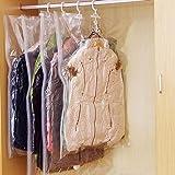 Wingbind 1PC Aspirateur Sac Housse de Protection pour Vêtements Costume Manteau, Transparent Sacs Scellés à Compression Organ