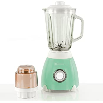 Batidora de vaso 500W, jarra y molinillo de medición de vidrio de 1.5L -