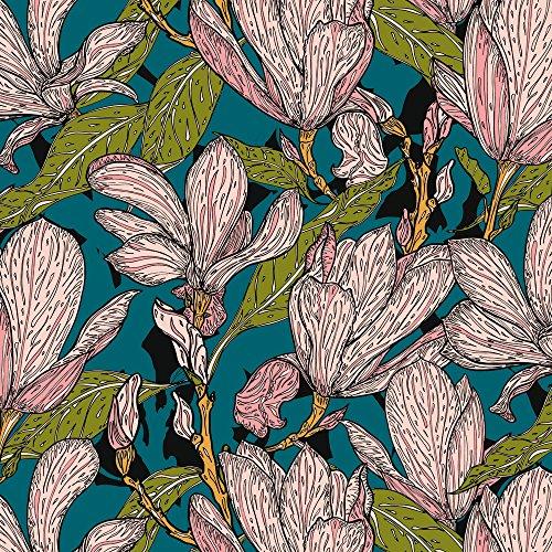 Apple iPhone SE Housse Outdoor Étui militaire Coque Magnolias Fleurs Fleurs Étui en cuir gris
