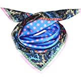 Lorenzo Cana Lussuoso panno di seta con stampa accurata, 100% seta, 70 x 70 cm, colori armoniosi, 89053