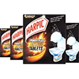 Harpic Power Plus Active Tablets for Toilet Cleaning, 8 Tablets Per Box, Pack of 4 Boxes (Total 32 Tablets)