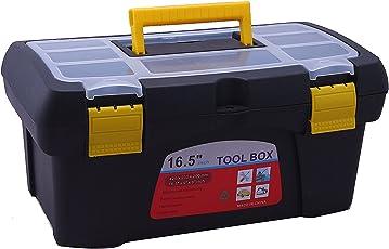Novicz 1224 Plastic Tool Box with Organizer (Multicolor)