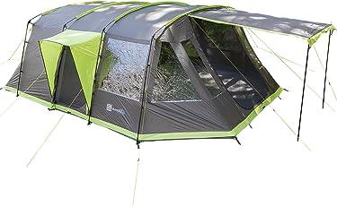 skandika Nordland 4-Personen Familien/Tunnel Campingzelt, mit fest eingenähtem Zeltboden, 200 cm Stehhöhe, 5000 mmWassersäule,