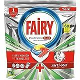 Fairy Platinum Plus Dishwasher Tablets, Lemon, 60 Tablets