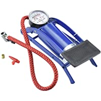 Fidrox Pedal Inflator Single Barrel Cylinder Inflation Air Foot Pump with High-Pressure Gauge for Motorcycles, Bicycle Tyre, Tires Car