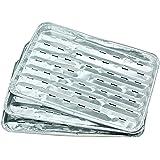 Fackelmann 24332 5 alu, Lot de barquettes, Aluminium, Argenté, 34,5 x 23 x 2 cm