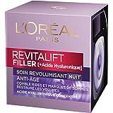 L'Oréal Paris - Revitalift - Filler - Soin Nuit Revolumisant - Anti-rides & Volume - Anti-âge - Concentré en Acide Hyaluroniq
