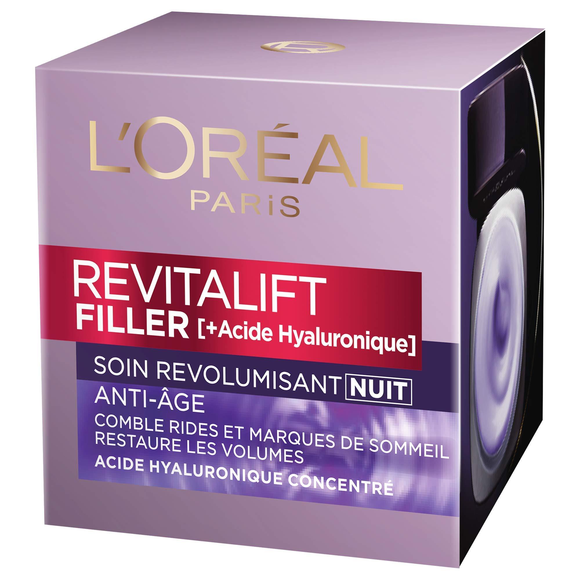 L'Oréal Paris Soin anti-âge Revitalift Filler revolumisant nuit – le pot de 50ml