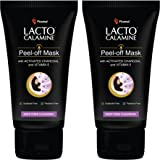 Lacto Calamine Face Peel Off Mask with Activated Charcoal & Vitamin E for Deep Pore Cleansing, Removing Black & Whiteheads &