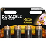 Duracell Plus Power Alkaline C Batterien, 4er Pack