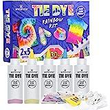 WINSONS Tie Dye Kit, 5 Colores de Tinte de Tela Permanente no tóxico Set de Arte para niños Mujeres para la Fiesta casera Act